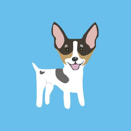 Toy Fox Terrier icon. Vector illustration.