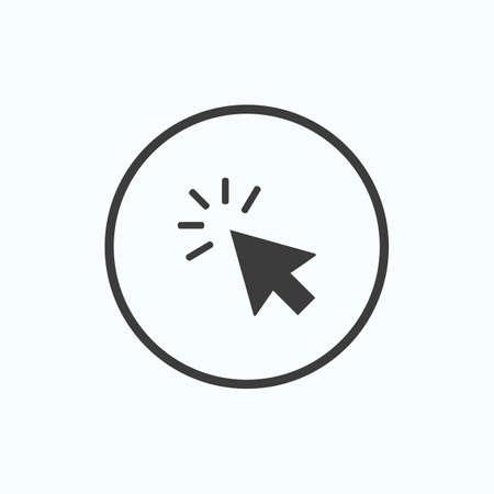 Click icon. Pointer Arrow. Vector illustration.