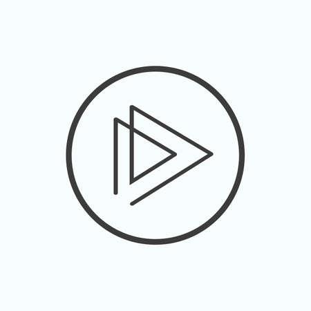 Play icon. Vector illustration.