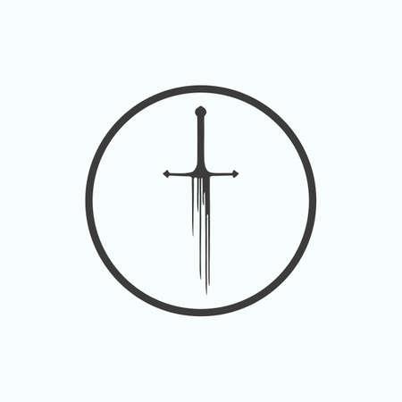 Sword icon. Vector illustration.