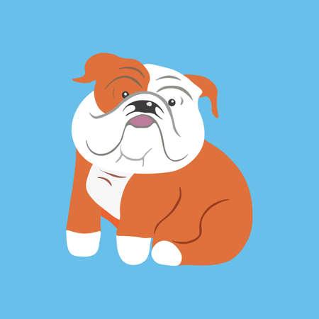 English bulldog icon. Vector illustration.