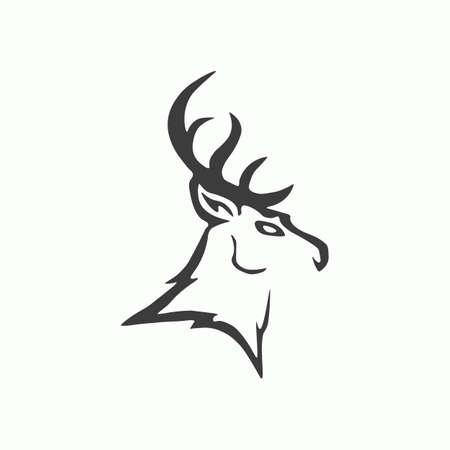 Deer icon. Vector illustration.