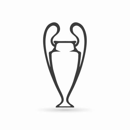Football cup icon. Vector illustration.