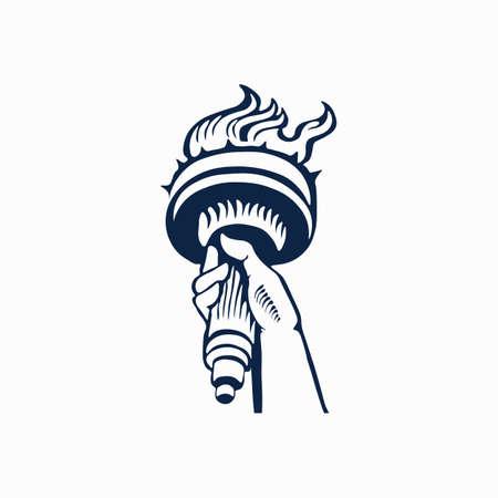 Icône de la statue de la liberté. Illustration vectorielle. Vecteurs