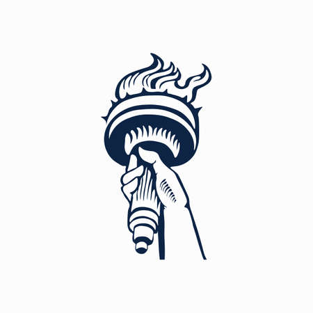 Statue of Liberty icon. Vector illustration.