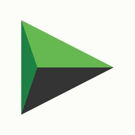 Play icon. Polygonal icon. Vector illustration. Illustration