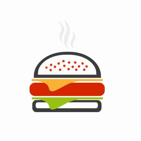 Burger icon. Vector illustration.