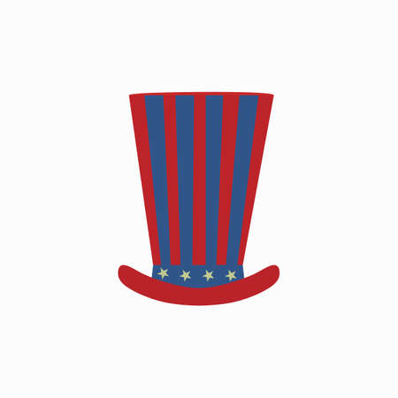 Uncle Sams hat icon. Vector illustration.