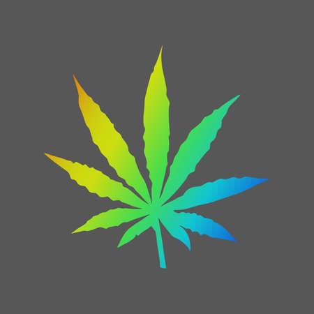 Cannabis icon. Vector illustration.