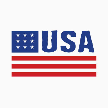 American flag icon. Vector illustration. Illustration