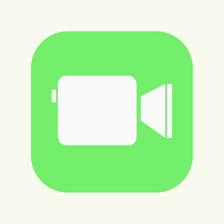 Camera icon. Messenger. Vector illustration.
