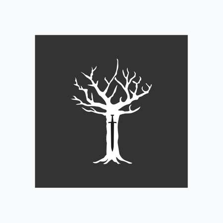 Royal tree in cartoon style. Vector illustration.