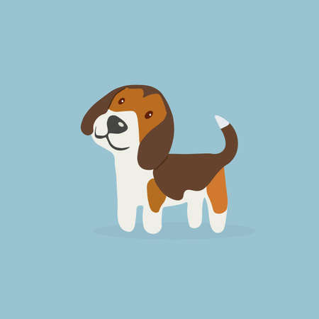 Beagle dog breed. Dog icon. Vector illustration. Illustration