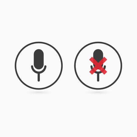 Microphone icon. Mic sign. Vector illustration. Illustration