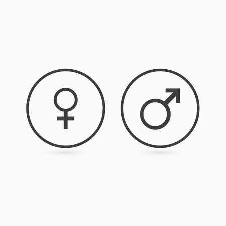 Sex icon. Web button. Vector illustration.