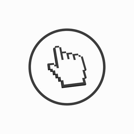 Click here button. Vector illustration.