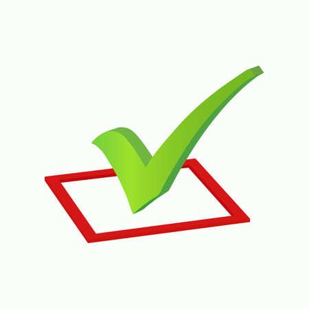 Checkmark icon. Vector illustration. Illustration
