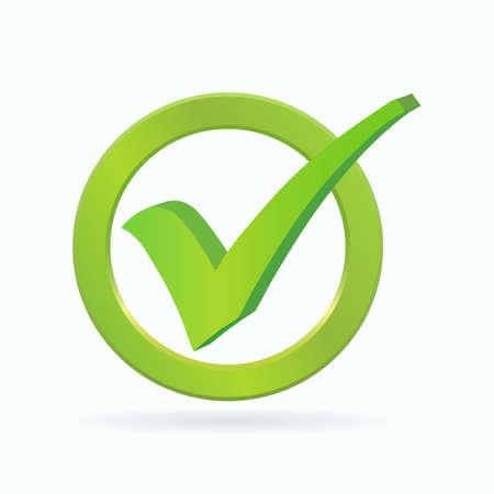 Checkmark icon. Web button. Vector illustration.