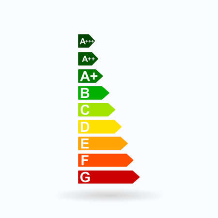 Energy efficiency rating. Vector illustration.