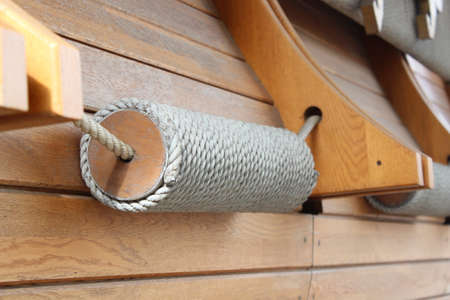 coiled rope: Decorative coil of rope