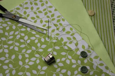 Cloth with thread coils
