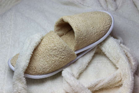Bath slippers and bathrobe Reklamní fotografie