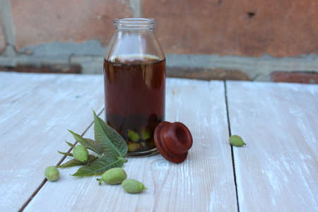 Natural tincture of green nuts