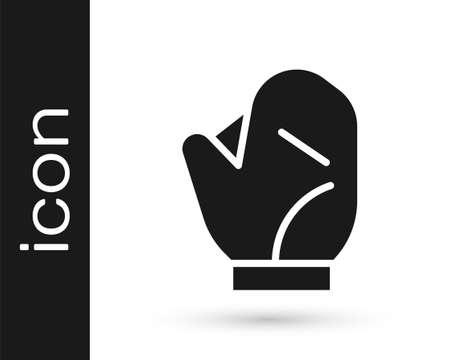 Grey Baseball glove icon isolated on white background. Vector Illustration Иллюстрация