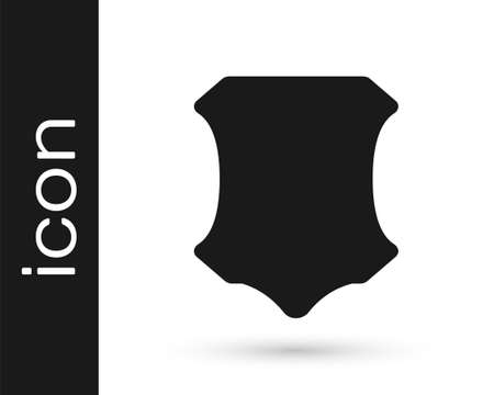 Grey Leather icon isolated on white background. Vector Illustration Иллюстрация