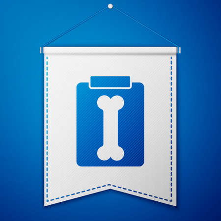 Blue X-ray shots icon isolated on blue background. White pennant template. Vector Illustration Иллюстрация