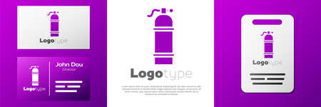 Logotype Aqualung icon isolated on white background. Oxygen tank for diver. Diving equipment. Extreme sport. Sport equipment. Logo design template element. Vector Illustration Logo