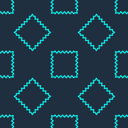 Green line Leather icon isolated seamless pattern on blue background. Vector Illustration