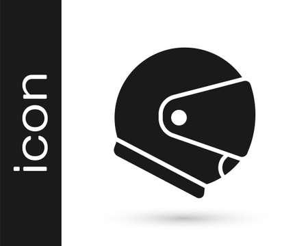 Grey Helmet icon isolated on white background. Extreme sport. Sport equipment. Vector Illustration