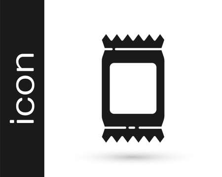 Grey Fertilizer bag icon isolated on white background. Vector Vettoriali