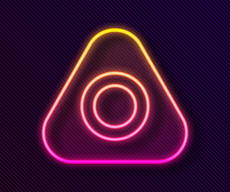 Glowing neon line Sewing chalk icon isolated on black background. Vector