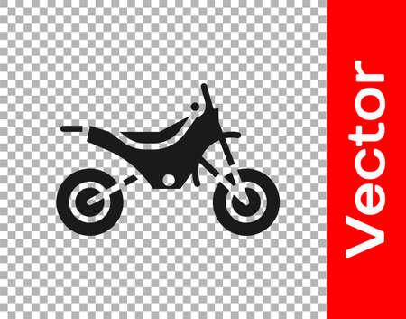 Black Mountain bike icon isolated on transparent background. Vector Illustration.