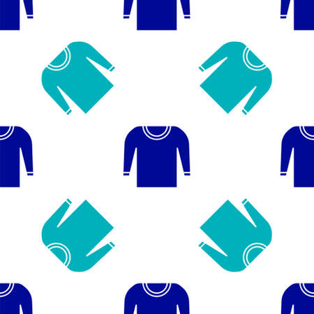 Blue Sweater icon isolated seamless pattern on white background. Pullover icon. Vector Illustration