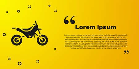 Black Mountain bike icon isolated on yellow background. Vector Illustration.