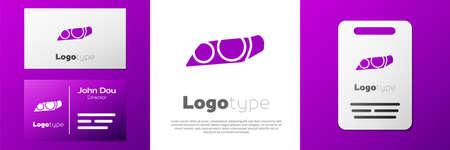 Logotype Car headlight icon isolated on white background.