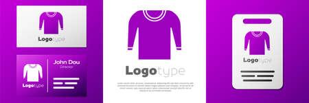 Logotype Sweater icon isolated on white background. Pullover icon. Illusztráció