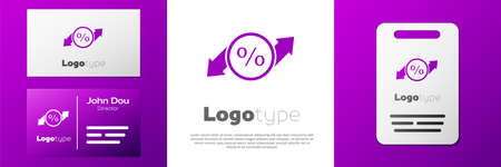 Logotype Discount percent tag icon isolated on white background. Shopping tag sign. Special offer sign. Discount coupons symbol. Logo design template element. Vector Illustration