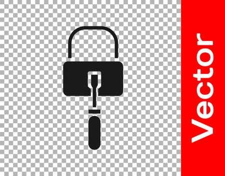 Black Lockpicks or lock picks for lock picking icon isolated on transparent background. Vector Illustration.