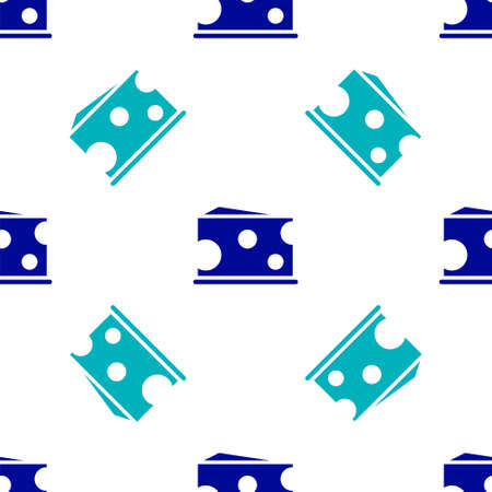 Blue Cheese icon isolated seamless pattern on white background. Vector Illustration.