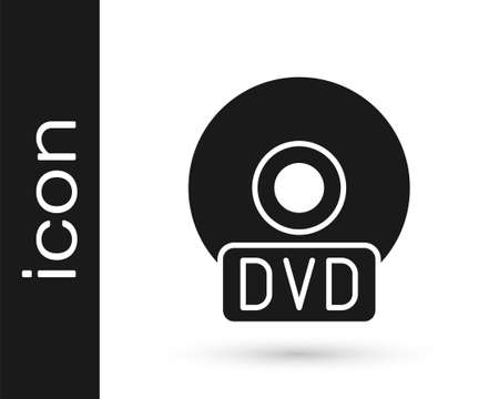 Grey CD or DVD disk icon isolated on white background. Compact disc sign. Vector Illustration.