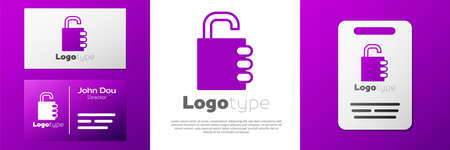Logotype Safe combination lock icon isolated on white background. Combination padlock. Security, safety, protection, password, privacy.