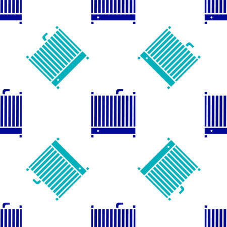 Blue Car radiator cooling system icon isolated seamless pattern on white background. Vector Illustration. Ilustração