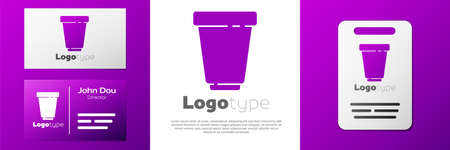 Logotype Water filter cartridge icon isolated on white background. Logo design template element. Vector Illustration.