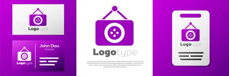 Logotype Tailor shop icon isolated on white background. Stock fotó - 150556751