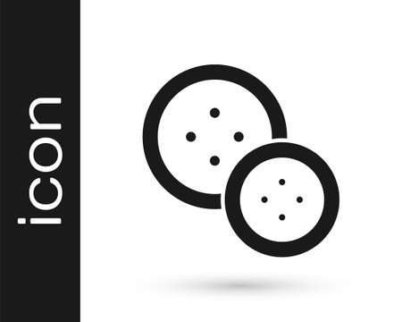 Grey Sewing button for clothes icon isolated on white background. Clothing button. Vector Illustration.