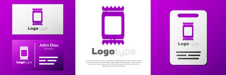 Logotype Fertilizer bag icon isolated on white background. Logo design template element. Vector Illustration 일러스트